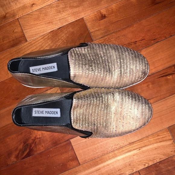 Gold Platform Steven Madden Shoes